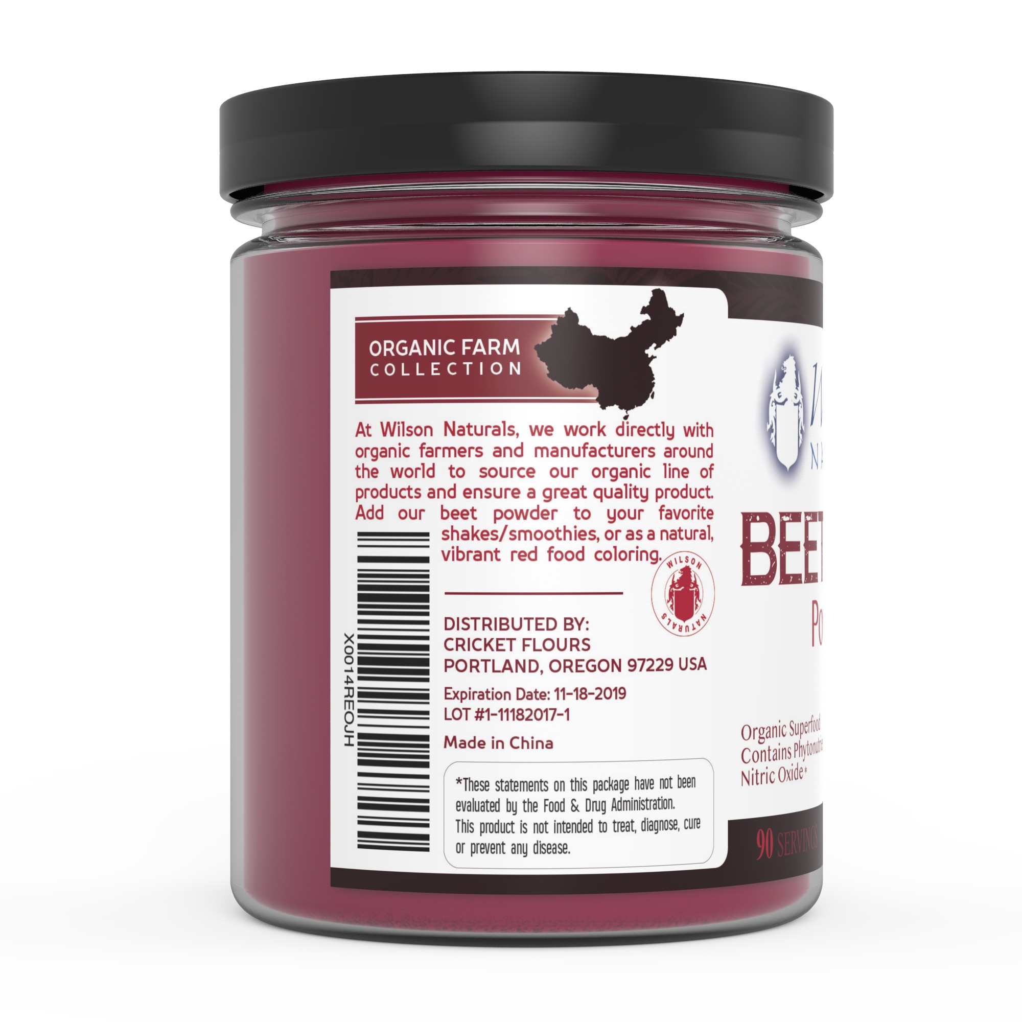 Organic Beet Root Powder (Available in 1/4lb and 1lb) | Wilson ...